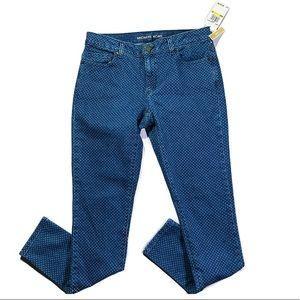 NWT MICHAEL KORS SKINNY INDIGO COMBO size 4 jeans
